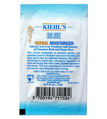 Blue Herbal Moisturizer Sample
